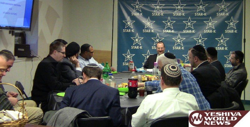 STAR-K Visit Highlighted by Rav Binyomin Friedman on Atlanta Scholars Kollel Trip