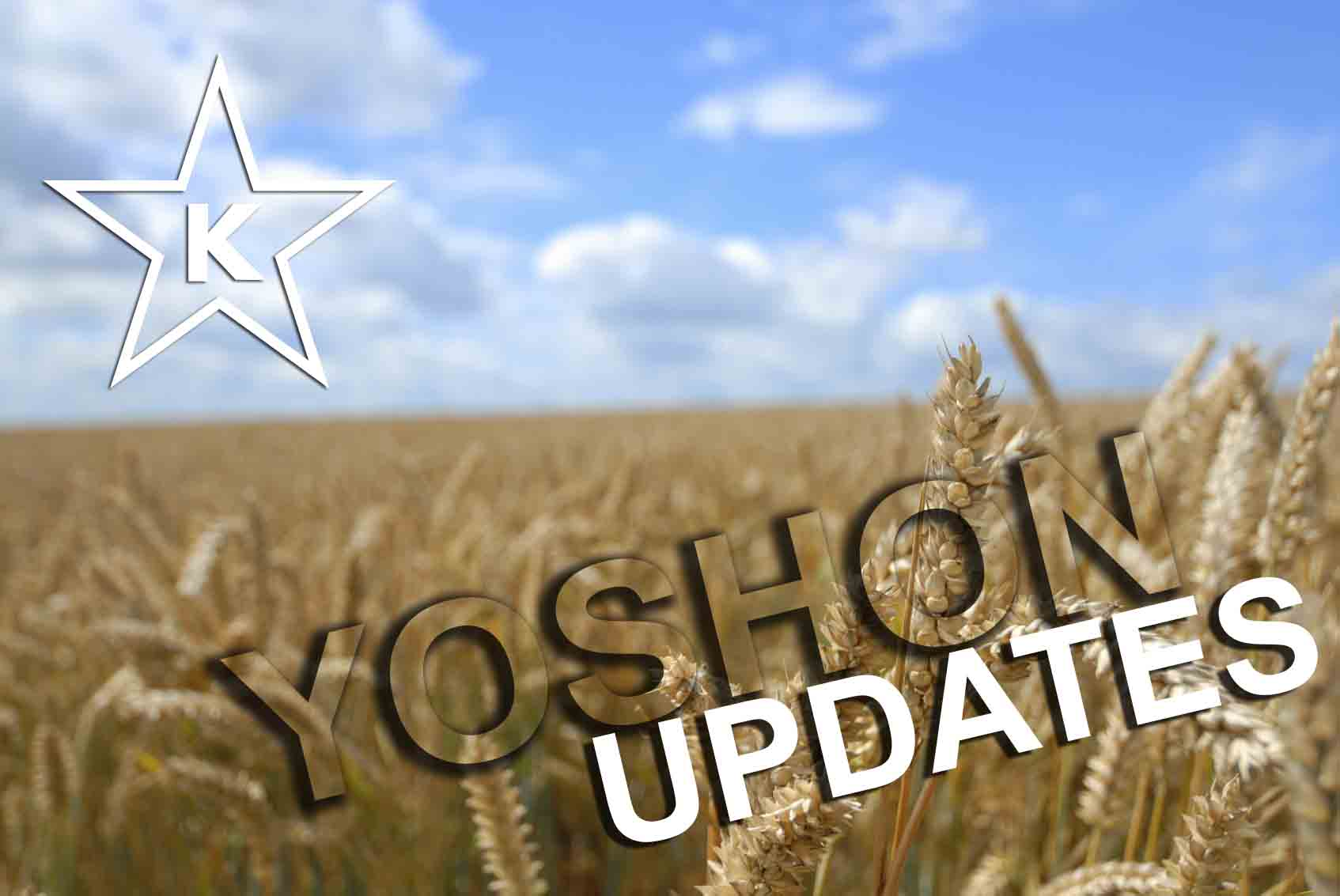 Yoshon Updates – as of September 1, 2020
